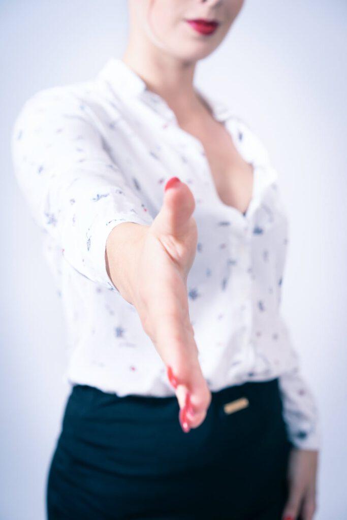 handdruk op het sollicitatiegesprek